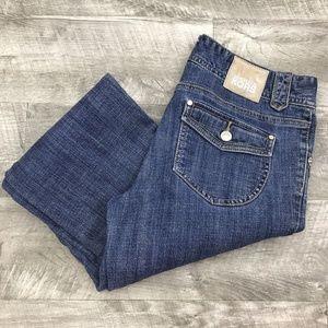 MICHAEL KORS Women's Straight Leg Blue Denim Jeans
